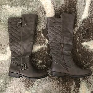 Women's Quilted Riding Knee High Boots